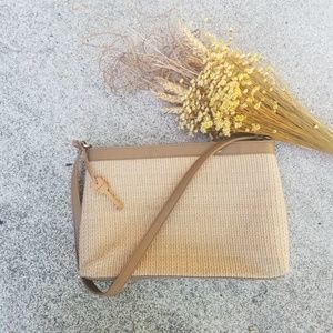 Fossil woven straw style purse